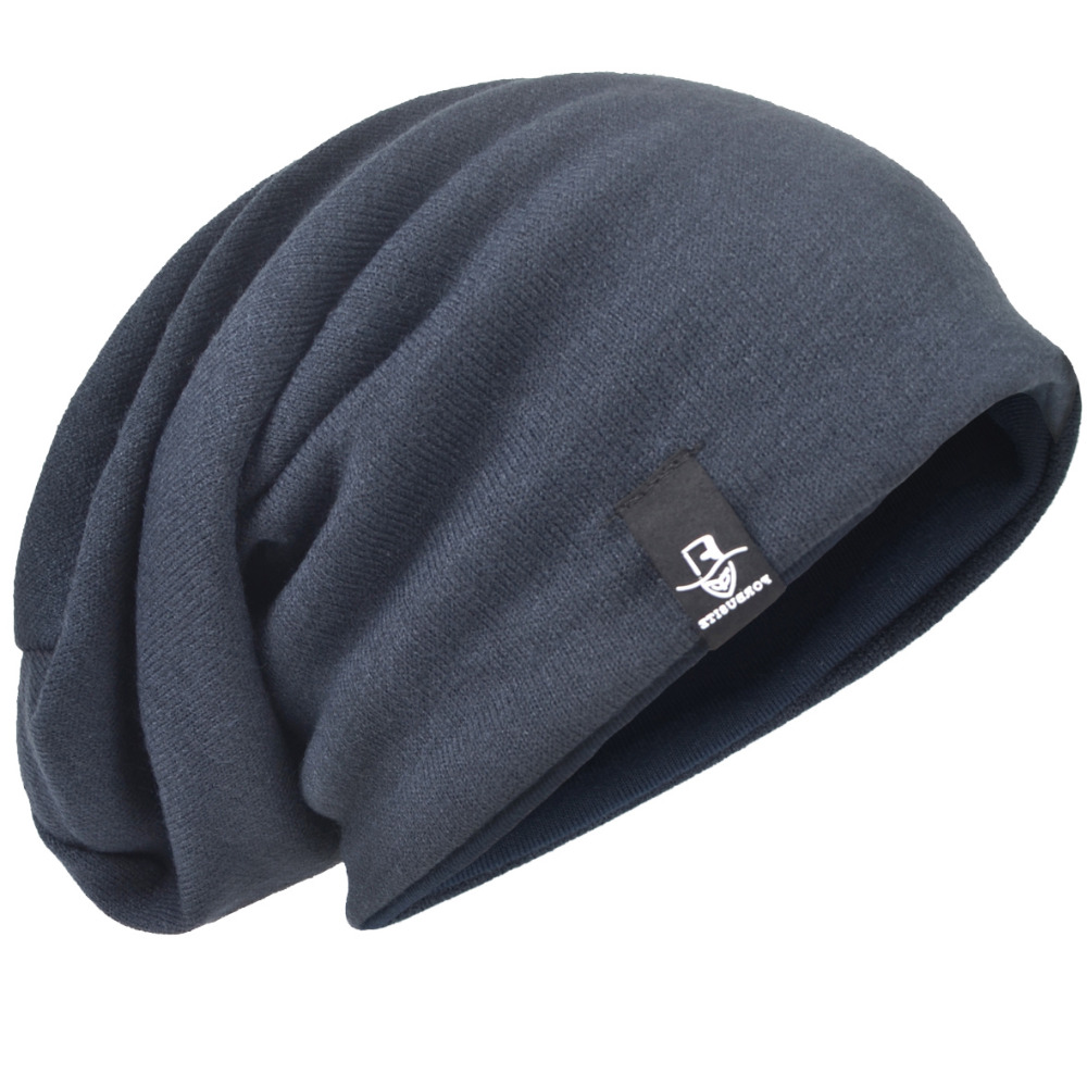 f49addc6f76d6 Detail Feedback Questions about HISSHE Men Baggy Knit Winter Hat Large Warm  Beanie Cap Solid Slouch Beanie Hat Oversize Hat For Unisex on  Aliexpress.com ...
