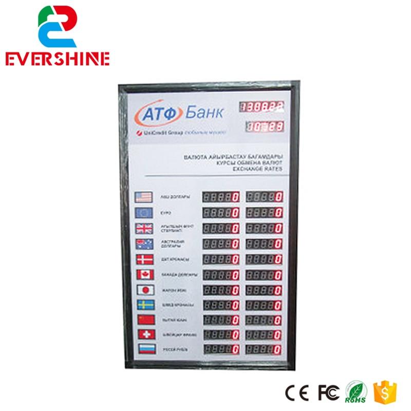 Led Display 1 Sign Red Digit Number board Indoor LED Exchange Rate Board Language for Kazakhstan 100 pcs ld 3361ag 3 digit 0 36 green 7 segment led display common cathode
