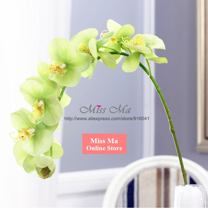 1116pcslot phalaenopsis latex orchid flower real touch 11 flowers 1116pcslot phalaenopsis latex orchid flower real touch 11 flowersstem artificial flower wedding fake flower free shipping in artificial dried flowers mightylinksfo