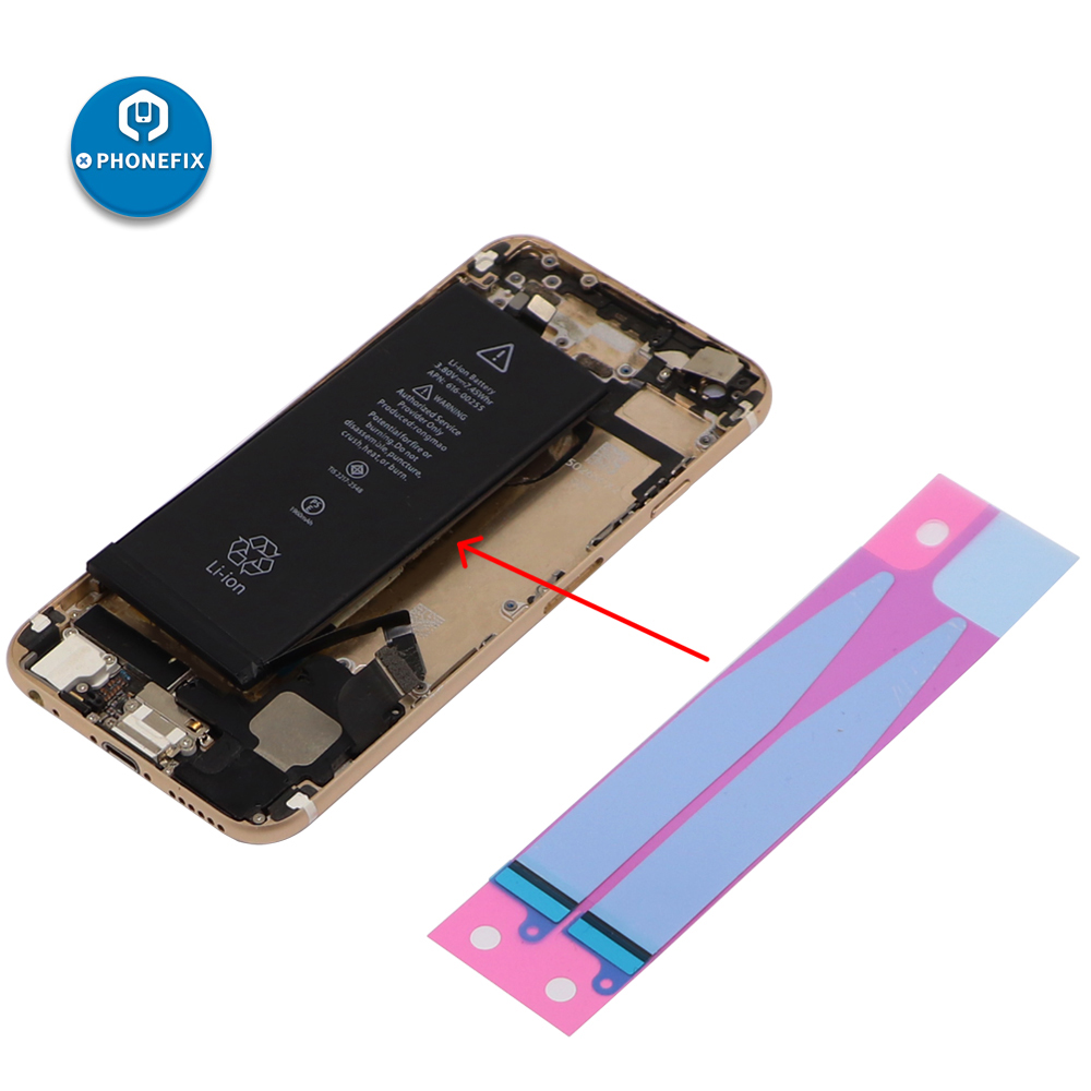 Phone Anti-Static Battery Adhesive Sticker Strips Tape Glue Replacement Compatible For IPhone 5 5S 6 6S 7 8 X XR XS Repair