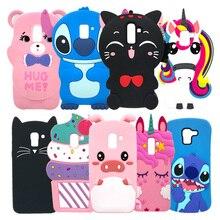 цена на Phone Case For Samsung Galaxy J6 2018 J600 J600F Cute Unicorn Ice Cream Pig Minnie Soft Silicone Back Cover For Samsung J6 2018