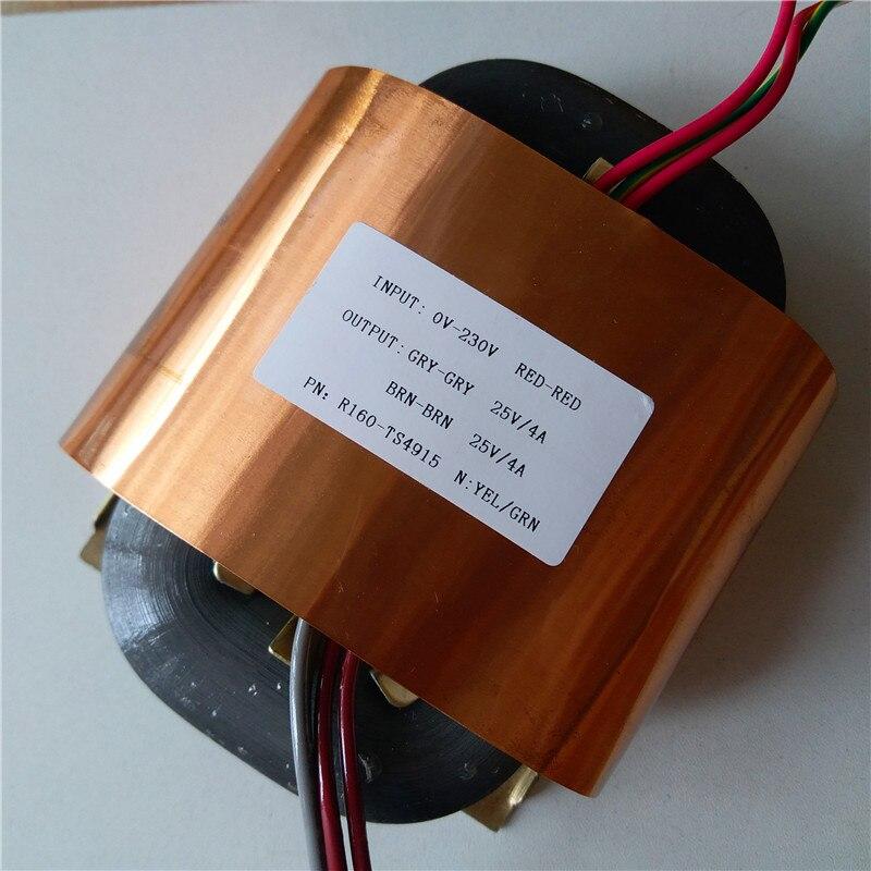 25 v 4A 25 v 4A R Nucleo del Trasformatore 200VA R160 personalizzato trasformatore 230 v schermatura in rame di alimentazione amplificatore