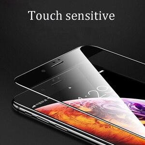 Image 3 - 15D מעוקל קצה מגן זכוכית על עבור iPhone 7 6 6S 8 בתוספת מזג מסך מגן עבור iPhone X XR XS מקסימום 7 6 זכוכית סרט