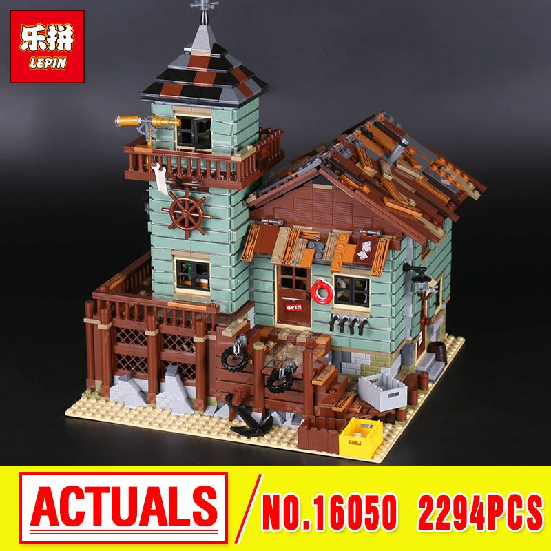 Lepin 16050 The Old Fishing Store Set Genuine 2294Pcs MOC Series Building Blocks Bricks Educational 21310  christmas lepin 16050 the old finishing store set moc series 21310 building blocks bricks educational children diy toys christmas gift