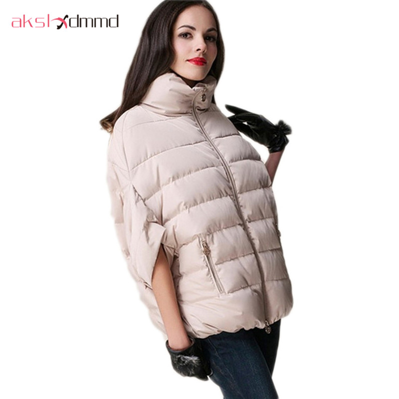 AKSLXDMMD 2017 New Lady Fashion Coat Winter Jacket Outerwear Bat Sleeve Thick Women Jackets Parka Overcoat Abrigos Mujer ZL2005 akslxdmmd fashion casual winter thick hooded jacket 2017 new parka women parttern letters mid long coat female overcoat lh1227