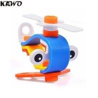 KAWO 14 pcs Fun Combination Building Blocks Removable AirPlane for Kids
