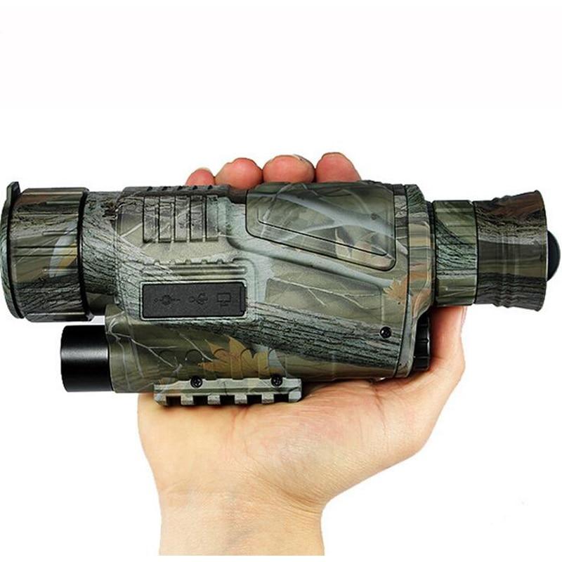 Digital HD 200 M visión nocturna caza Monocular camuflaje visión salvaje caza infrarrojo Monocular al aire libre caza telescopio
