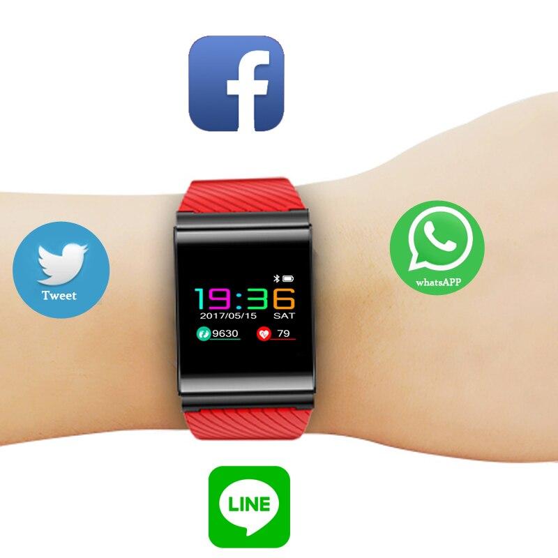 2019 BANGWEI, pulsera inteligente para hombres y mujeres, Monitor de ritmo cardíaco y presión arterial, rastreador de Fitness, antipérdida de deportes relojes inteligentes