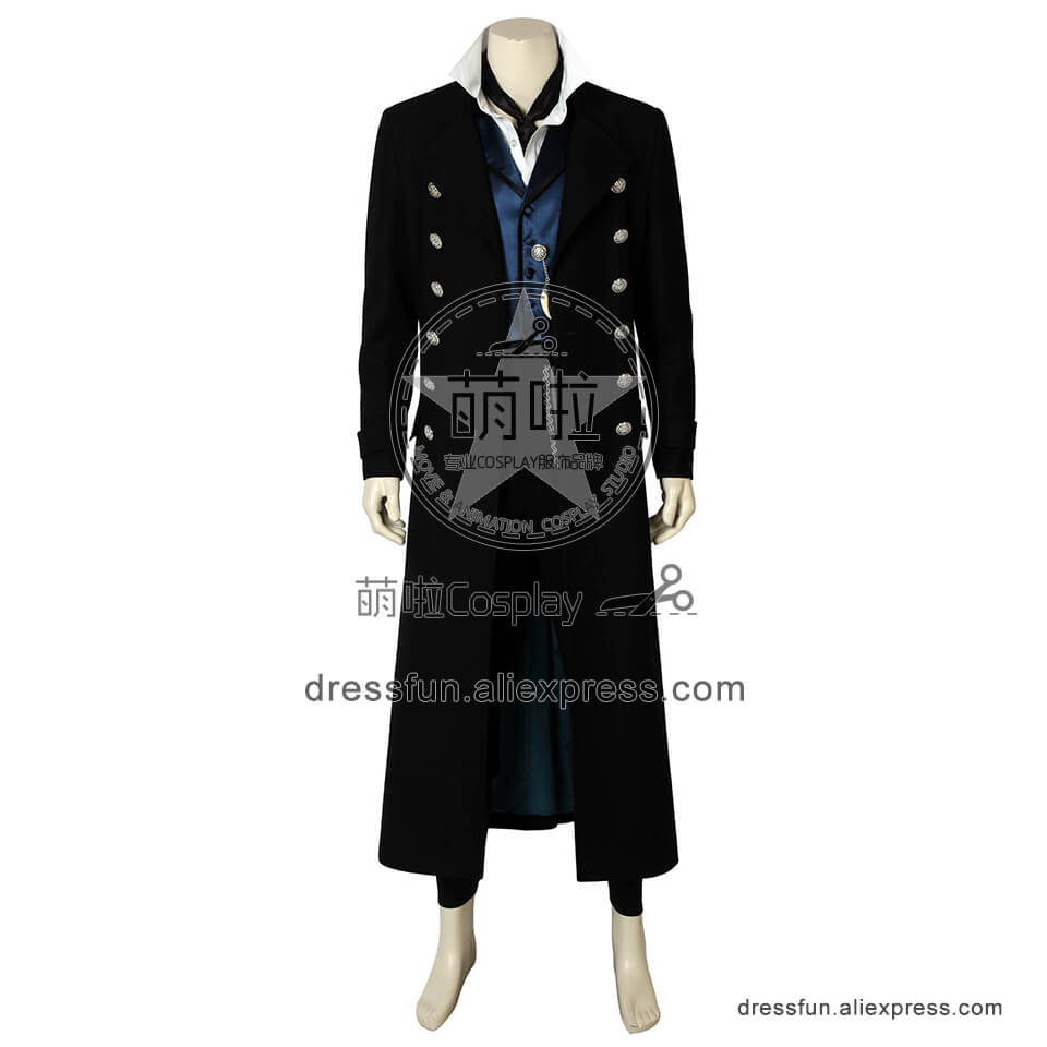 Fantastic Beasts and Where to Find Them Cosplay Newt Scamander Costume Full Set Party Fast Shipping Halloween