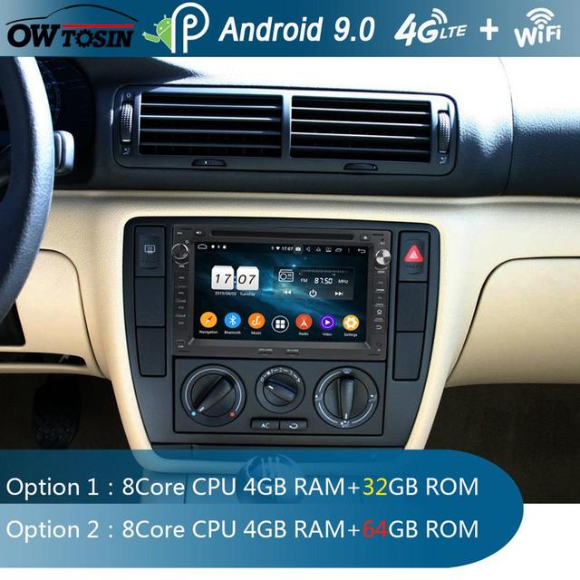 "7""IPS 8Core 4G+64G Android 9.0 Car DVD Radio GPS For VW Sharan Lupo Golf Polo Bora Passat B5 Transporter DSP CarPlay Parrot BT"
