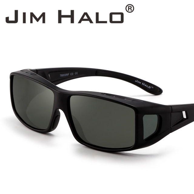 29bd22ec27 Jim Halo Fit Over Polarized Sunglasses Wear Over Night Driving Glasses Men  Women