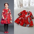 100% Cotton Baby Girls Dress Fashion Children Jacquard Cartoon Animal Kids Dress For Girls 1-6 Years Infant Dress Girls Costume