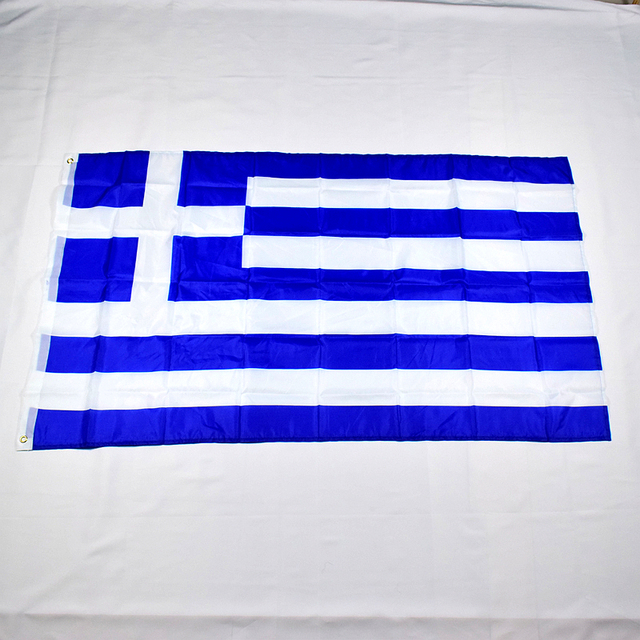 US $3 42 10% OFF|Greek Greece 90*150cm flag Banner Free shipping 3x5 Foot  Hanging National flag for meet,Parade,party Hanging,decoration-in Flags,
