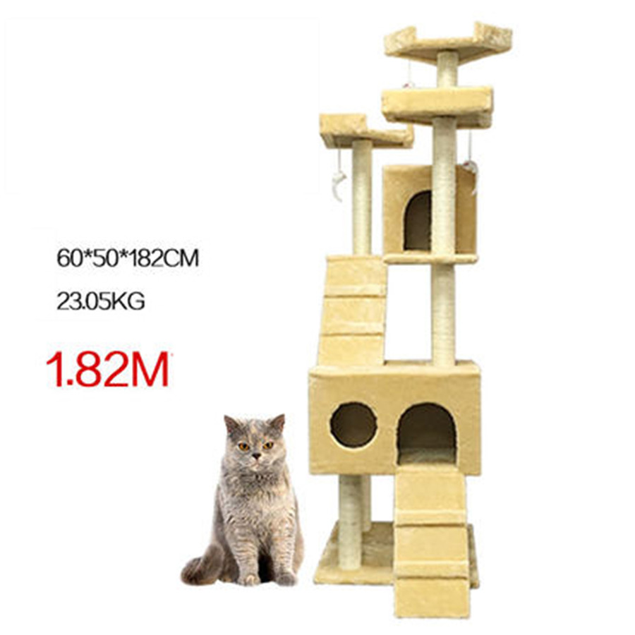 Sisal Pets Cat Climbing Frames Toys Interactive Gatos Mascotas Shelves Cat Tree Interesting Wood Toys For Kittens QQM2195