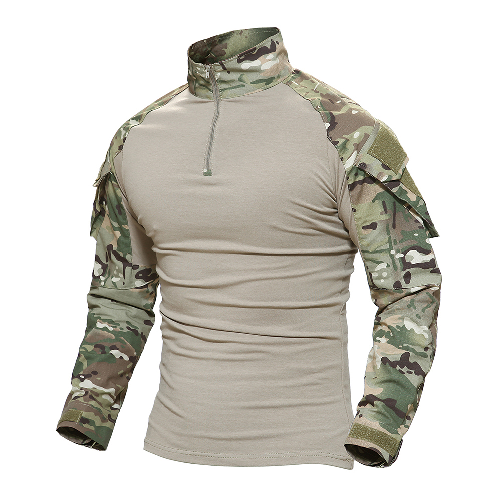 a698dc87d Men Outdoor Military Tactical T shirt Long Sleeve SWAT Soldiers Combat T  Shirt Airsoft Man's US Army Shirts No Pads XS XXXL-in Hiking Shirts from  Sports ...