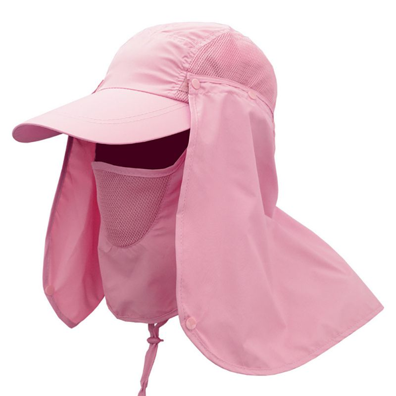 581204a4fd787 Women Men Camping Outdoor Hats Sport Fishing Hiking Hat UV Protection Face  Neck Flap Fishing Cap with Sunscreen Fishing Hats-in Fishing Caps from  Sports ...