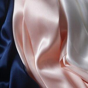Image 4 - R202 여성 실크 새틴 웨딩 신부 들러리 가운 기모노 목욕 잠옷 가운 대형