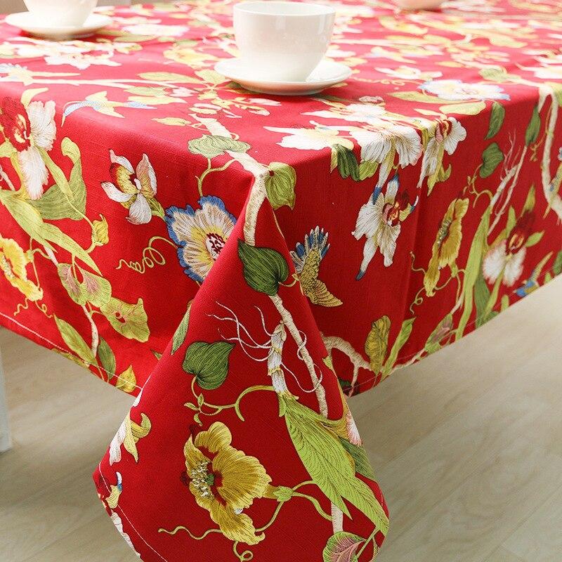 Wliarleo красный цветочный скатерть для партии, свадьба скатерть журнальный столик крышка Настольная дорожка manteles Para Меса tafelkleed