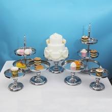 Soporte de espejo para pastel para decoración de cupcakes, conjunto de soporte para fiesta de cumpleaños para niños