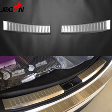 Car Interior Rear Door Sill Protector Trim 2PCS For Mazda CX-5 2017 2018 Trunk Bumper Plate Cover Stainless Steel Accessories