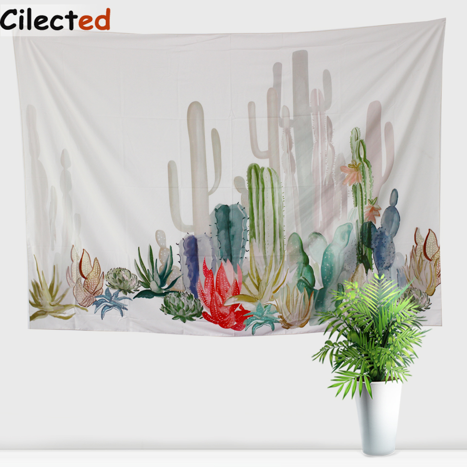 Decoration Carpet On The Wall : Aliexpress buy cilected cactus tapestry rectangle