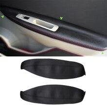Reposabrazos de microfibra de cuero para Nissan Qashqai J10, Panel de manija de puerta para coche, apoyabrazos, cubierta de cuero, 2007, 2008, 2009, 2010, 2011, 2012, 2013, 2014, 2015