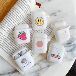 Милые фрукты для Airpods чехол Bluetooth наушники крутой силиконовый чехол для Airpods аксессуары для наушников сумка с зарядкой