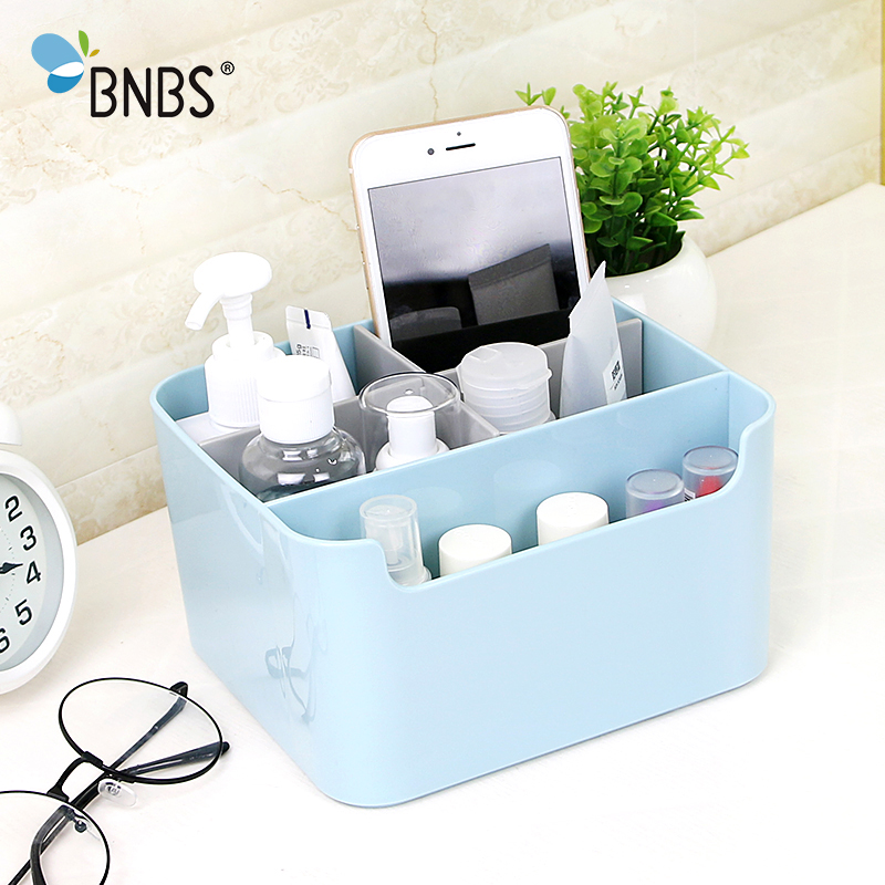 BNBS Multi-grid Storage Box Lipstick Makeup Organizer Creative Desktop Sundries Small Objects Plastic Box Container