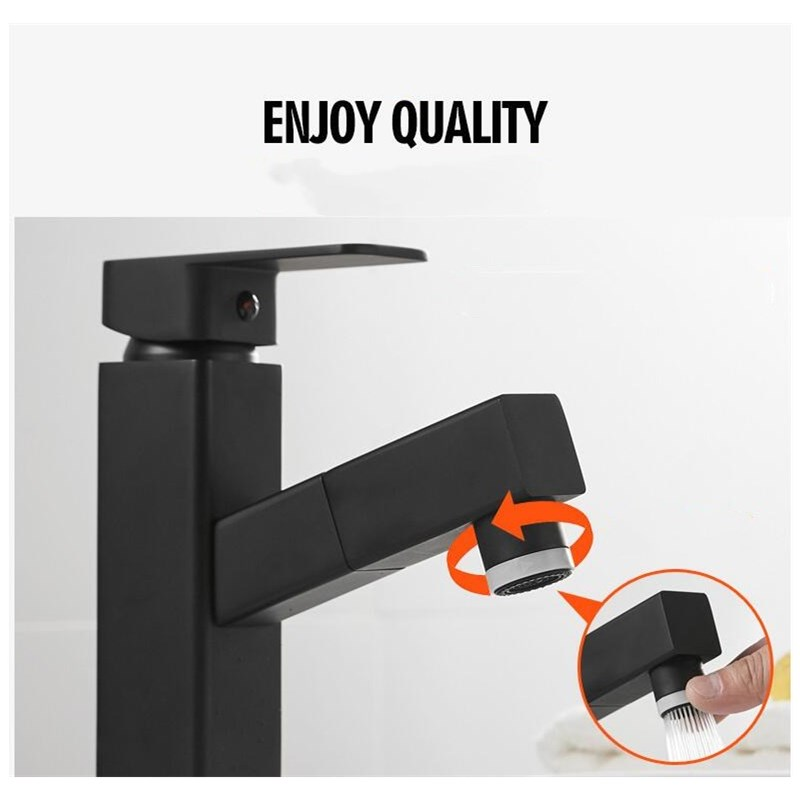 Pull Out ORB Finished Bathroom Sink Faucet Hot and Cold Single Lever Basin Faucet New Style Brass  basin faucetPull Out ORB Finished Bathroom Sink Faucet Hot and Cold Single Lever Basin Faucet New Style Brass  basin faucet