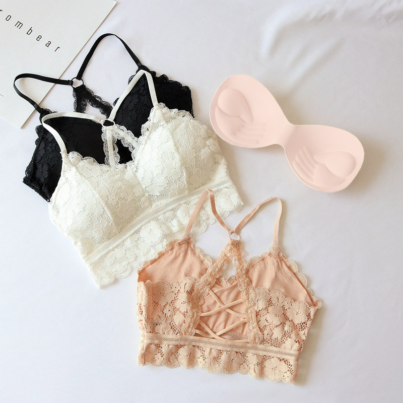 Women Summer Lace Tops <font><b>Sexy</b></font> Lace Hollow Floral Camisoles For Women Beauty Back Underwear <font><b>Bralette</b></font> <font><b>Encaje</b></font> <font><b>Mujer</b></font> 2019 Cropped Top image