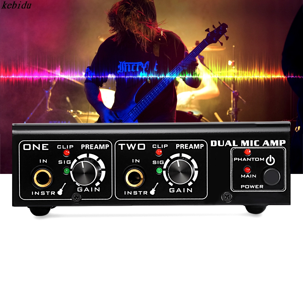 buy kebidu a961 linepaudio two channel microphone amplifier electric bass home. Black Bedroom Furniture Sets. Home Design Ideas