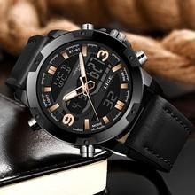 LIGE Quartz Watch Male Date LED Analog LIGE9964