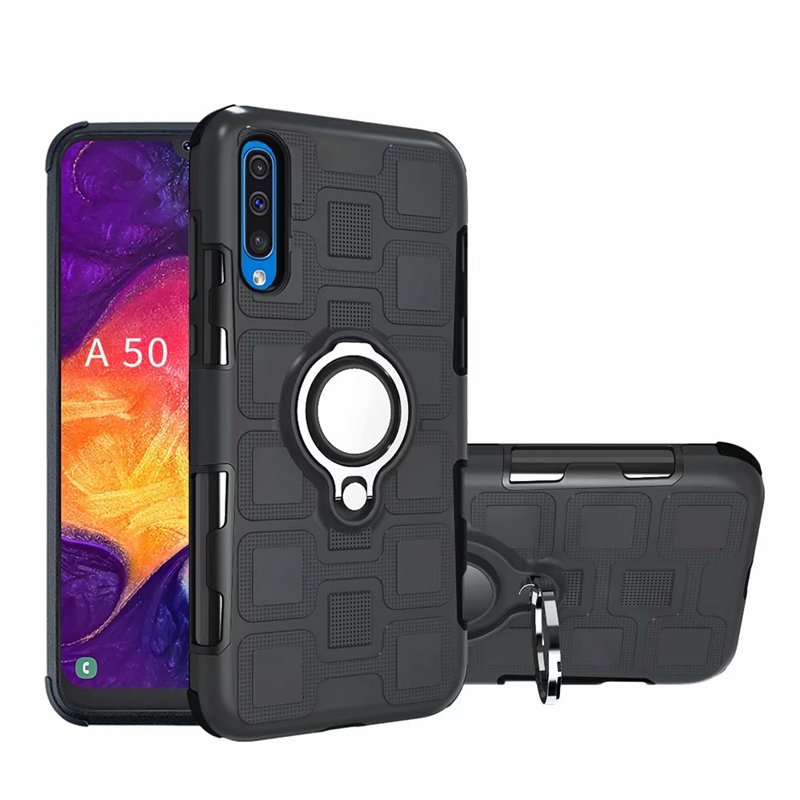 Luxury Armor Case For Samsung Galaxy A10 A20 A30 A40 A50 A60 A70 M10 M20 M30 M40 Silicone Shockproof Phone Case Ring Stand Cover in Fitted Cases from Cellphones Telecommunications