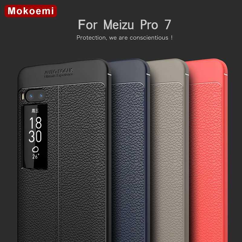 "Mokoemi Fashion Lichee Pattern Shock Proof Soft 5.2""For Meizu Pro 7 Case For Meizu Pro 7 Plus Cell Phone Case Cover"