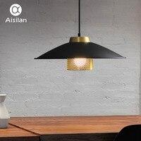 Aisilсветодио дный an led столовая лампа Nordic художественный металлический подвесной светильник новый выпуск минималистичный бар исследование