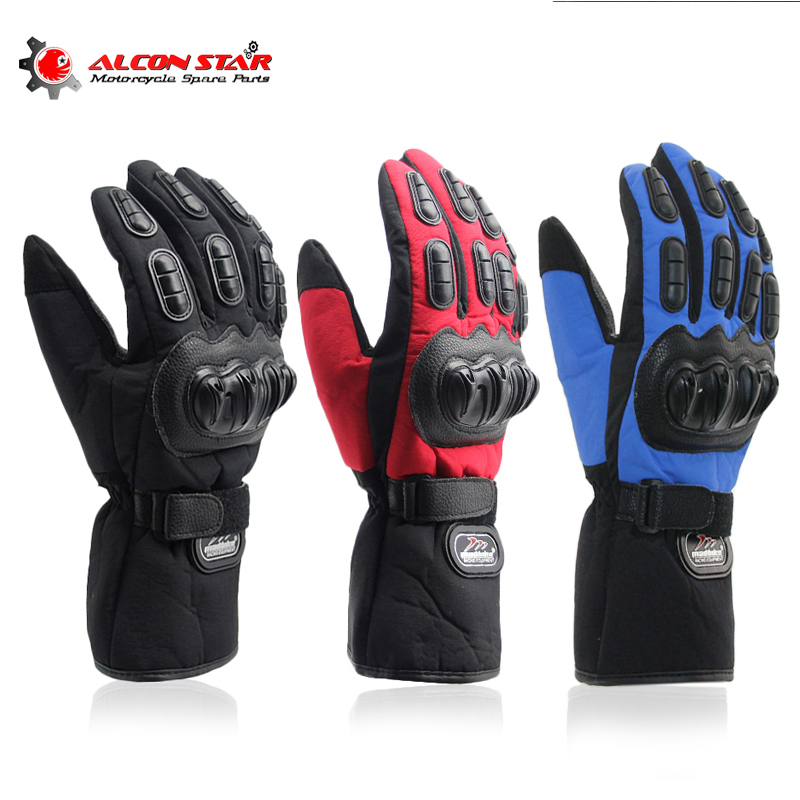 Alconstar- Motorcycle Gloves Winter Warm Windproof Protective 100% Waterproof Guantes Moto Luvas Motocross <font><b>Cycling</b></font> Racing Gloves