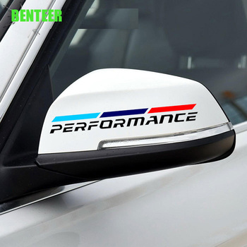 2pcs NEW power motorsport Car rearview mirror sticker for BMW F30 F10 F20 E90 E60 E40 E36 E46 GT Z 1 2 3 4 5 6 7 X series image