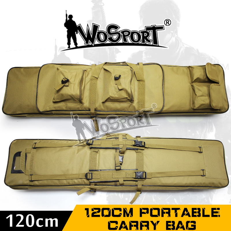 WoSporT 120 cm Portable sac de transport en plein air Camping escalade sac à dos fronde randonnée chasse sac tactique multifonctionnel étui à pistolet