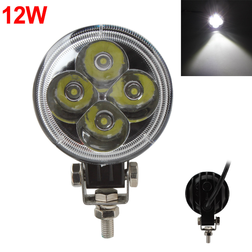 Hot 3 Inch 12W 6500K Waterproof LED Working Light for Motorcycle / Tractor / Boat / 4WD Offroad / SUV / ATV