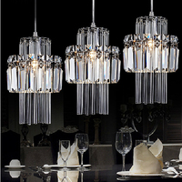 Crystal Pendant Lamp Industrial Bar Pendant Light Kitchen Island Lighting Modern Hanging Lamps Pendant Lights for Living Room