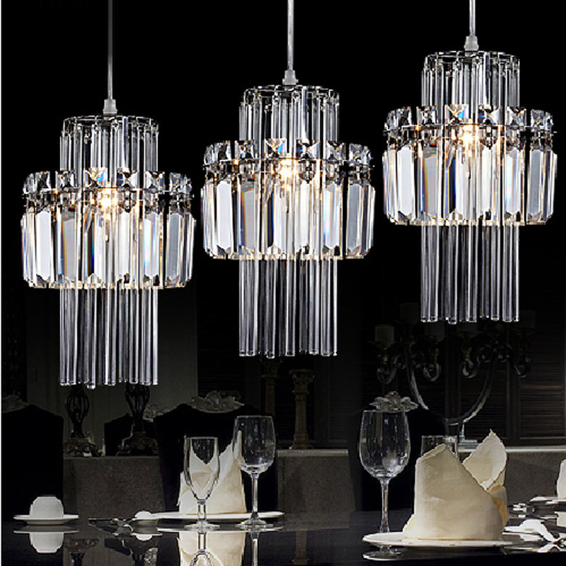 Restaurant lamp pendant lamp three head pendant light crystal dining pendant lamps modern living room bar counter bedroom lamp 2016 time limited suspension luminaire basons fashion living room pendant light modern bedroom lamp brief crystal dining lamps
