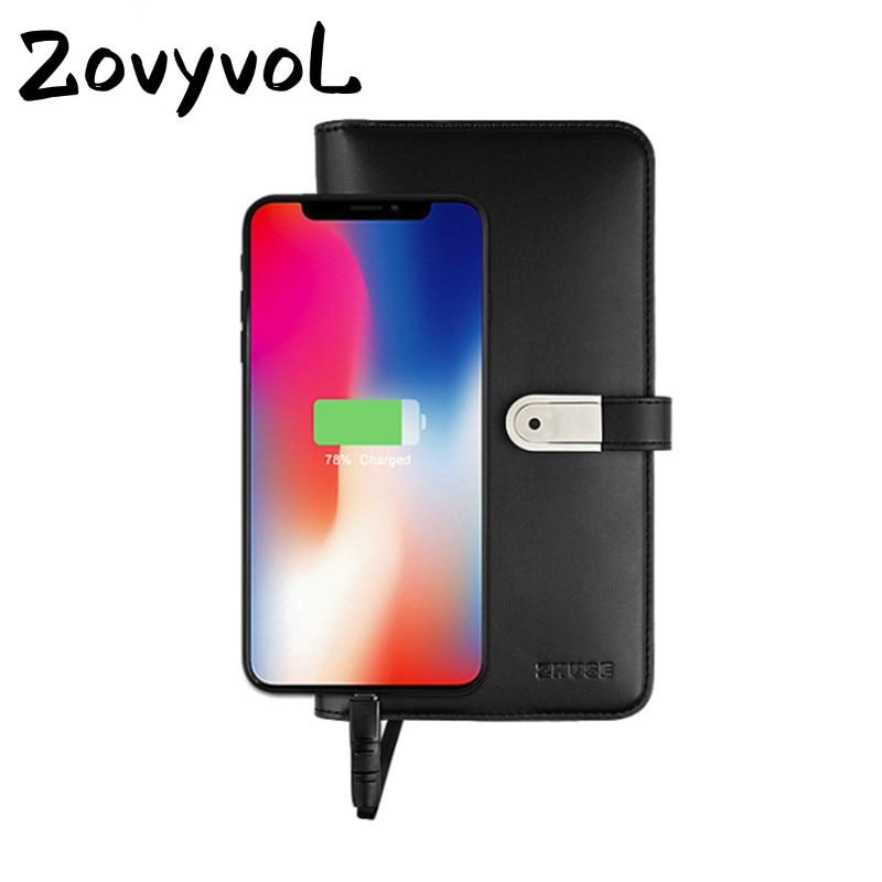 ZOVYVOL 2019 portefeuille intelligent unisexe Long avec USB pour charger le portefeuille pour Ipone et Android capacité 8000 mAh et 16G U sac à main