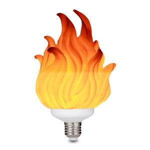 Image 2 - 3D Printing LED Flame Effect Light Bulb Fire Flickering Emulation Decor Lamp E27 LED Flame Effect Fire Light Bulbs For Bedroom