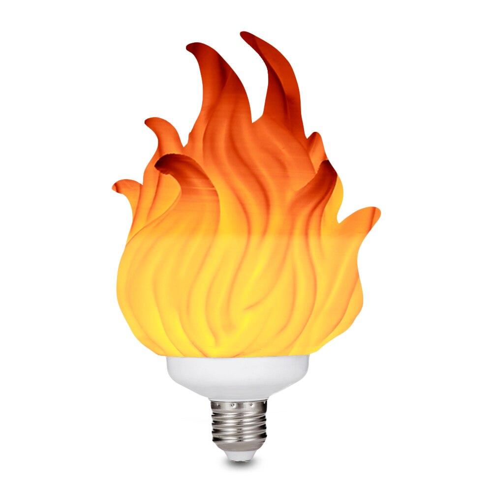 3D Printing LED Flame Effect Light Bulb Fire Flickering Flickering Emulation Decor Lamp E27 LED Flame Effect Fire Light Bulb