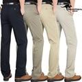 2016 dos homens do algodão calças dos homens casuais calças de cintura alta de idade calças soltas retas