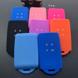 Image 5 - Чехол для автомобильного ключа ZAD, силиконовый резиновый чехол для Renault KOLEOS Kadjar Arkana 2017, для samsung QM5, набор из 4 кнопочных карт, чехол для смарт ключей