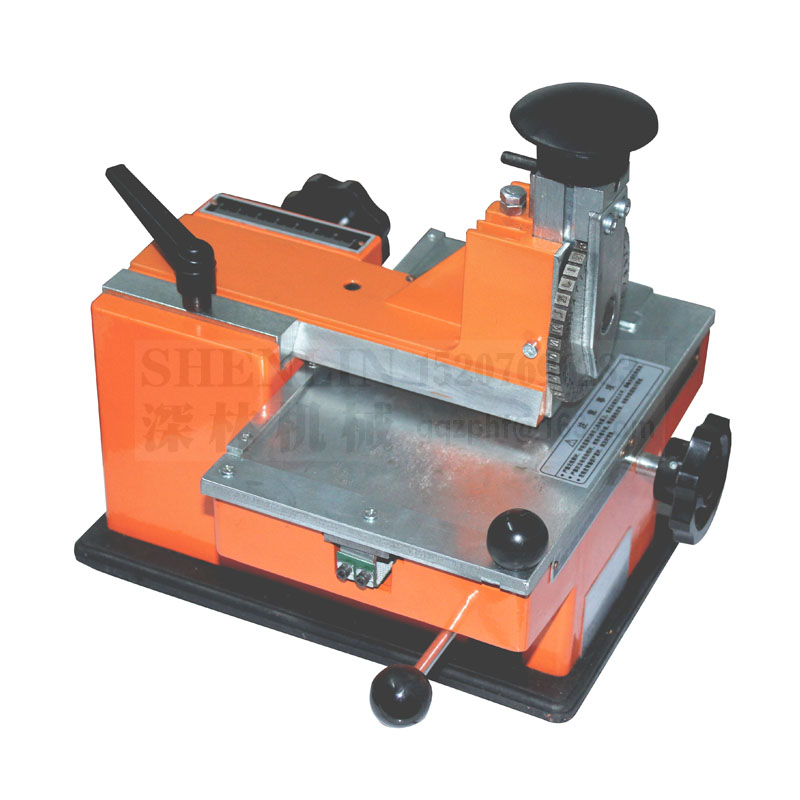 Metal sheet embosser, manual steel embossing machine, aluminum alloy name plate stamping label engrave tool, SL-360