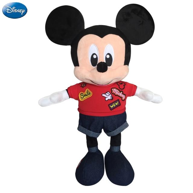 ba4d727ffaa3 Disney Brand Mickey Mouse Minnie Mouse 49cm Space Cotton Plush Stuffed  Animal Toys Doll Christmas Toys for Baby Boys Girls Kids