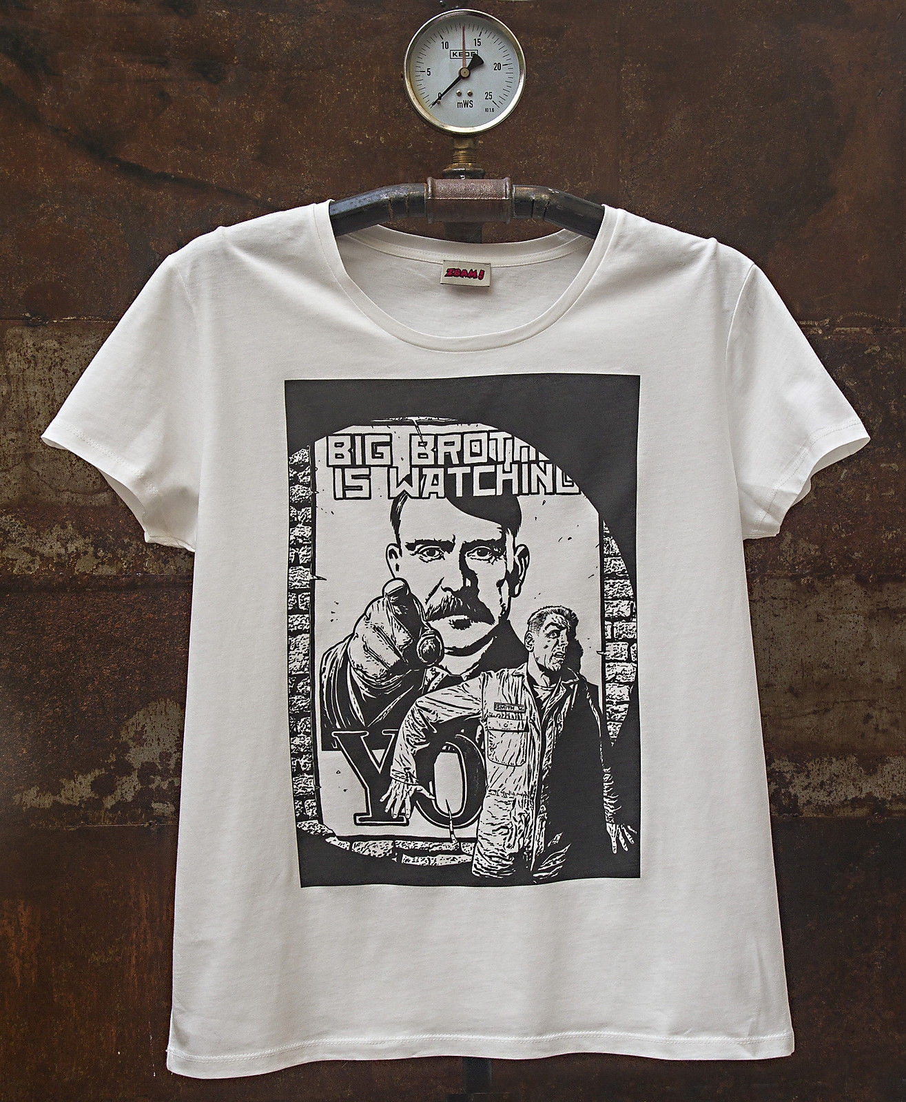 George Orwell 1984 Big Brother Is Watchng You Mens T Shirt 2018 New Pure Cotton Short Sleeves Hip Hop Fashion In Shirts From
