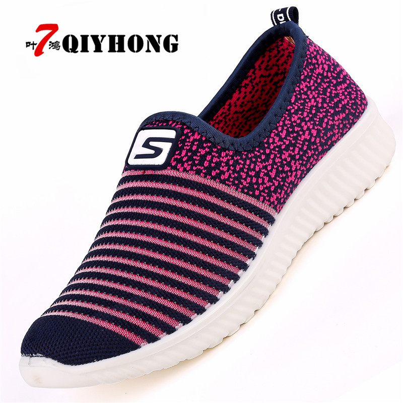 QIYHONG High Quality New Superstar Shoes Women Mesh (air Mesh) Flat Women Shoes Spring/autumn Fashion Casual Womens Flat Shoes